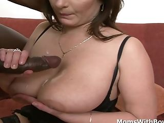 All Huge-titted And Horny Mom Intercourse With Big Black Chisel