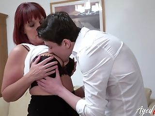 Ginger-haired Gonzo Romp With Youngster And Matures With Fellatio Pleasure