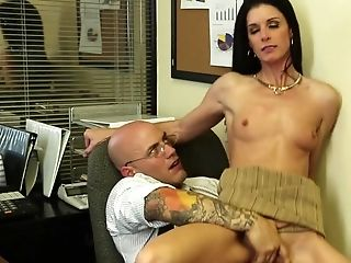 Fucking Bitchy India Summer In His Office Gets Him Off
