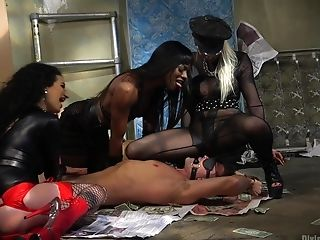Arabelle Raphael And Two More Damsels Want To Please Dude's Penis