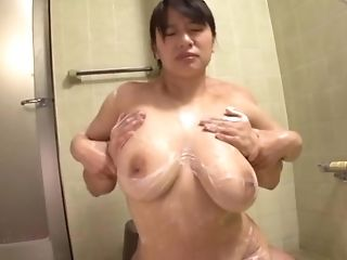 Bbw Japanese Nubile Haruna Hana Is Under The Douche With Her Paramour