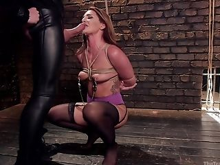After A Deep Throat Horny Savannah Fox Is Ready For Sadism & Masochism And Backdoor Sex