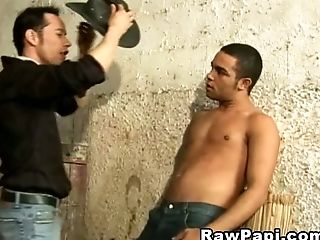 Sweet cock sucking after twinks condom sex