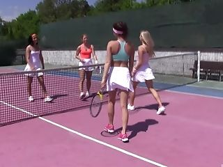 Tennis Is Always Joy When Cayla Lyons And Her Gfs Are Playing