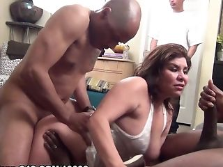 Arousing Latina Is Life Of Soiree And Copulated  - Soiree