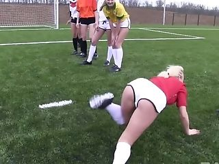 Fine Arse Nubile Bailey Undressing Off Clothes In Football Pitch