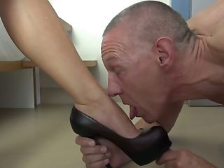 Wearing Strap On Dildo Horny She-male Drills Her Boy's Butthole Hard Enough