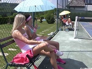 Nice Gals Abandon Their Doubles Match For Tennis Court All Girl Fuck-fest