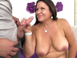 Matures Dark-haired Bbw In Stockings Laylani Wood Rails A Junior Dude