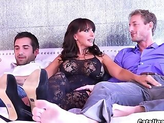 Catalina Cruz Tagteamed By Two Guys During Live Webcam