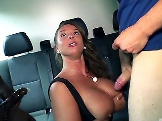Bumsbus - German Cougar In A Interracial Threesome On The Bus