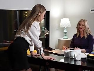 Two Office Ladies Having Some Sexy Time - Britney Amber & Sabina Rouge
