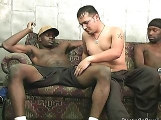 Suspended Black Studs Sharing A Horny Milky Dude