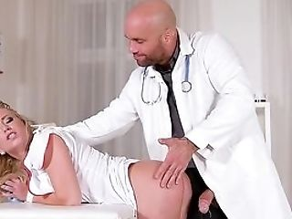 Nurse Arched Over And Fucked Hard By A Dirty Physician