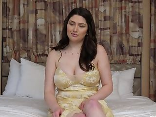 Dark Haired Chubby Nubile Fucks In The Bedroom