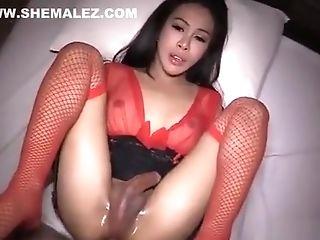 Sexy Shemale Stunner In Underwear Assfuck Fuck