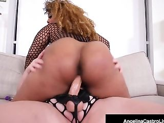 Phat Backside Cuban Angelina Castro Fucks Black Bbw Yummy!
