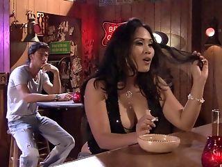 Jessica Bangkok And Her Wild Fresh Vfriend Love Fuck In The Night Bar