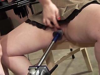 Testing Out Her Fresh Fuck Stick Machine On A Chubby Mega-slut