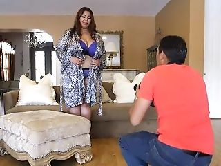Buxomy Fat Asian Model Gets Rubdown From Latino Stud