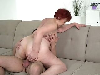 Youthful Student Licks And Fucks Threadbare Out Vulva Of Sex-positive Old Sitter Marsha