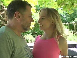 Slender Light Haired Czech Nymphomaniac Lily Ray Is Poked From Behind Outdoors