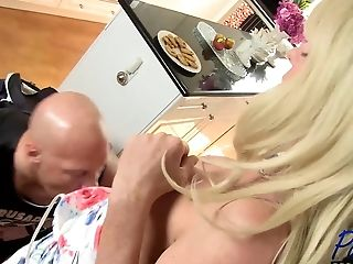 Matures Blonde Transsexual Joanna Jet Fucks Her Boytoy No Condom