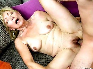 Hammering His Dick Into Granny Makes The Man Jism