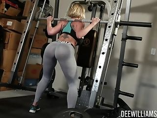 Buxomy Dee Williams Loves Bang-out At The Gym With Her Horny Trainer
