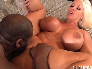 Black Fellow Agrees To Fuck Blonde Alura Jenson Until He Cums