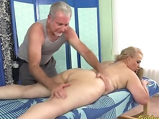 Old Masseuse Fondles Thick Matures Mega-slut Summer With Thumbs And Fucktoys