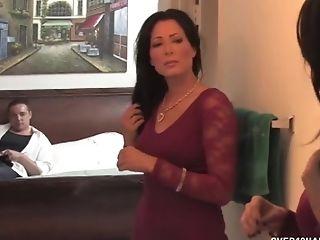 Horny Mummy Masturbates Off Her Driver