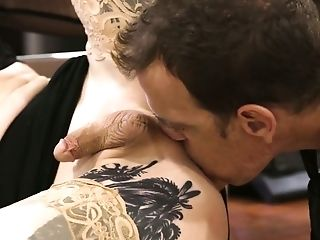 Ardent Transsexual Assistant Lena Kelly Is Fucked From Behind On Table