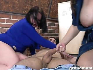 Hook-up-starved Old Women Fuck Marvelous Lad At A Undress Club