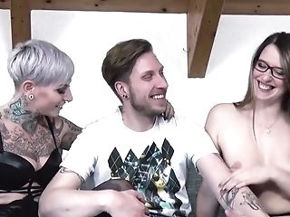 Threesome With Two Hot German Honies