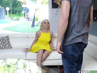 Blue Eyed Blonde Allie Nicole Gets Intimate With Stepmom's Paramour
