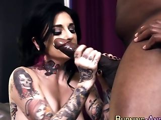 Tattoo Punk Gets Tits Jizzed