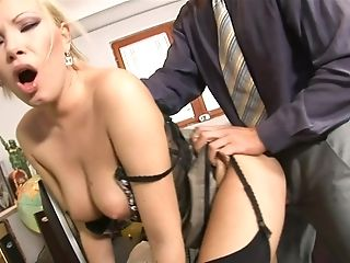 Hot Stunner Russian Assistant Cock-squeezing Rear End - Dona Bell