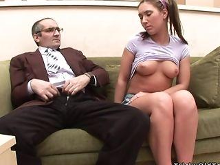 Perverted Old Fart Wants Teenage Coochie Of Wild Olga