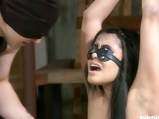 Blinded, Tied Up And Manhandled Dark-haired Teenager Giselle Humes