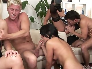 Czech Swapper Soiree Arranged By Horny Seductress Victoria Rose