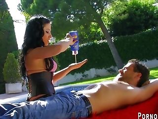 Sexy Latina Gropes Him Down From Head To Toe Before Finsihing With The Happiest Of Endings.