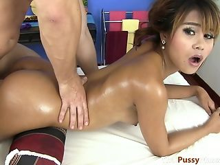 Thai Cutie Gets A Paw Down Then Gets Fucked From Behind