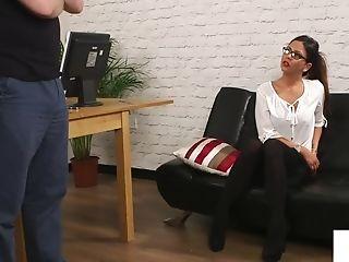 Buxom Brit Mummy Taunting During Cfnm Scene