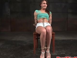Super-cute Obedient Getting Ball-gagged And Restrained