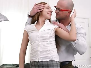 Sexy Crimson Haired School Stunner Veronika Fare Is Fucked By One Bald Headed Fellow