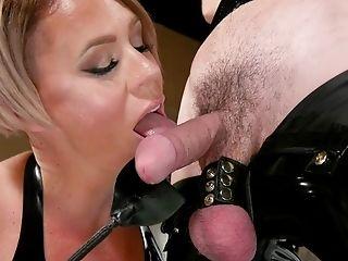 Female Dominance Kink Session With Helena Locke Manhandling Her Servant In Spandex