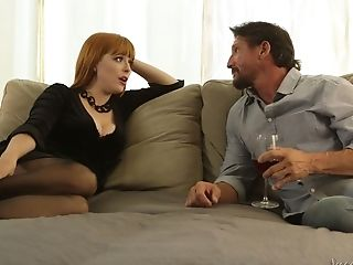 Fabulous Crimson Haired Stunner Penny Pax Wanna Nothing But Spoon Bang-out