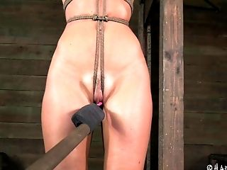 Curvy Matured Slaved Damsel In Restraint Bondage Getting Tantalized In Domination & Submission Fuck-a-thon