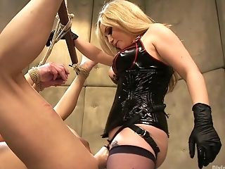 Gorgeous Mistress Wearing Strap Dildo Aiden Starr Fucks Anal Invasion Crevasse Of One Dude